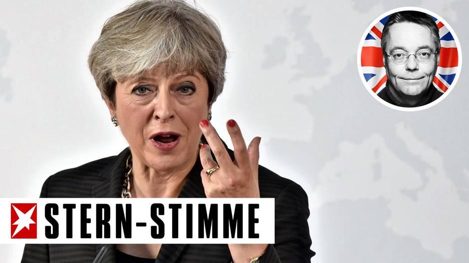Die britische Premierministerin Theresa May bei ihrer Rede zum Brexit in Florenz
