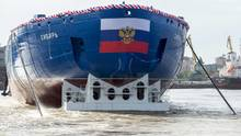 Sibir: Stapellauf für russischen Atom-Eisbrecher in St. Petersburg