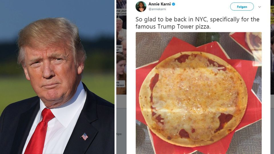 Donald Trump serviert Pizza im Trump Tower - nicht jedem gefällt der Anblick