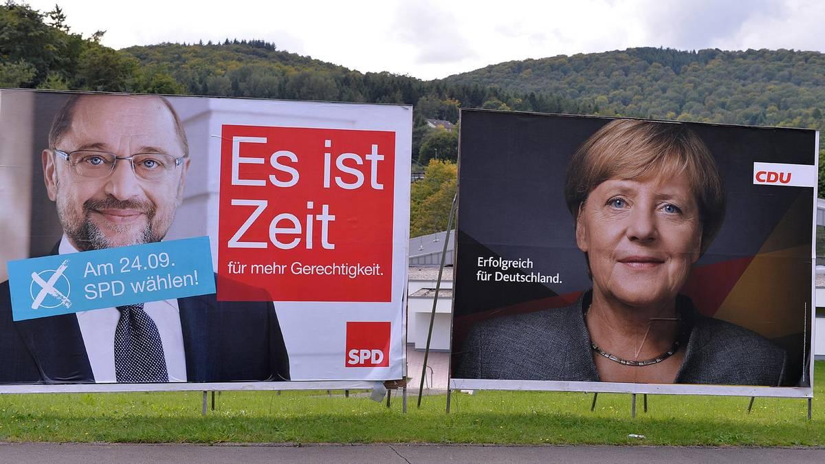 Bundestagswahl: Schulz wählt morgens, Merkel erst nachmittags
