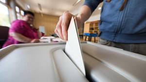 Stimmzettel zur Bundestagswahl