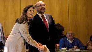 Martin Schulz gibt seine Stimme ab