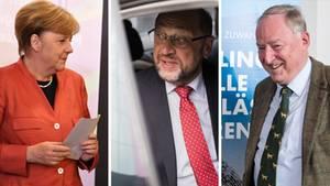 Angela Merkel und Martin Schulz (v.l): CDU und SPD verlieren gegenüber 2013 deutlich