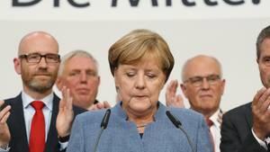 Angela Merkel und die CDU-Spitze: Stimmen verloren wie niemals zuvor