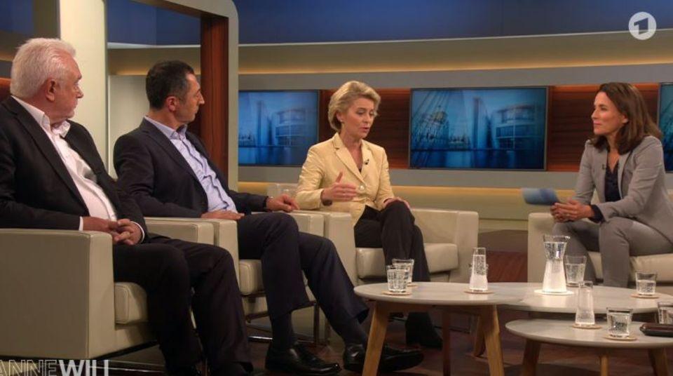 Anne Will Talk am Wahlabend mit von der Leyen, Kubicki, Özdemir