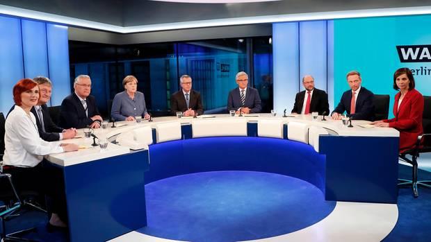 Die Elefantenrunde nach der Bundestagswahl 2017