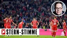 Größtenteils waren die Spieler des FC Bayern München nach dem Unentschieden gegen den VfL Wolfsburg bedient