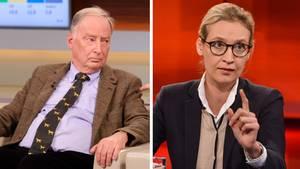 Die AfD-Spitzenkandidaten Alexander Gauland und Alice Weidel
