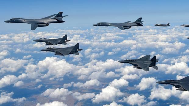 Nordkorea: Kampfjets der US Air Force bei einer gemeinsamen Übung mit Südkorea
