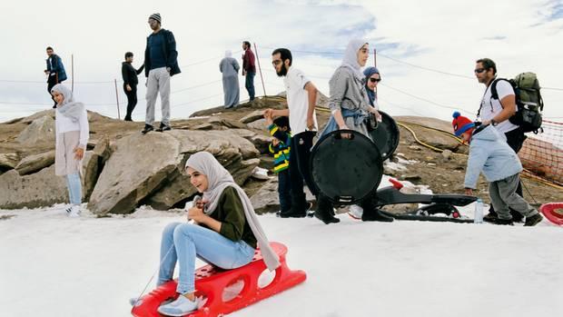 Rodel-Spektakel: Die Ice Arena auf dem Kitzsteinhorn wird im Juli und August fast nur von arabischen Touristen genutzt