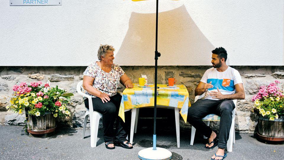 Kulturvermittlerin: Pensionswirtin Gerlinde Rahm erklärt arabischen Gästen gern ihr Land