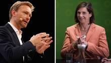 Nähern sich bereits zaghaft an: FDP-Chef Christian Lindner und Grünen-Vorsitzende Katrin Göring-Eckhardt