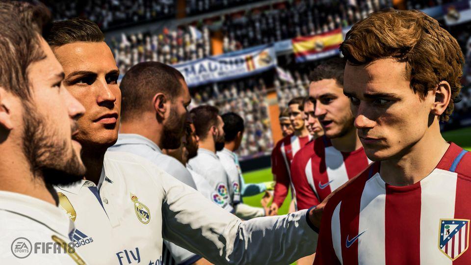 Die Spielergesichter in Fifa 18