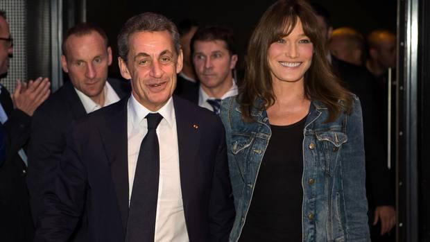 Als Präsidentengattin 2008 an der Seite Sarkozys