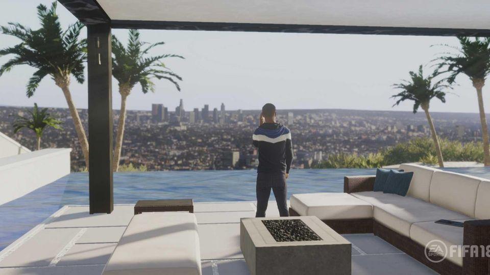 Alex Hunter aus dem Storymodus von Fifa 18 in Los Angeles