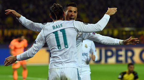 Die Superstürmer von Real Madrid jubeln gemeinsam: Gareth Bale und Cristiano Ronaldo