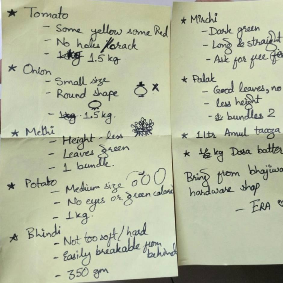 Viraler Hit: Wenn dein Mann eine Einkaufsliste mit Zeichnungen ...