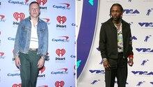 Die Rapper Macklemore und Kendrick Lamar auf einem Bikd