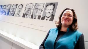 Andrea Nahles ist die neue Fraktionschefin der SPD