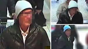 Mit diesen Bildern suchte die Polizei Konstanz nach der Erpressung nach dem Verdächtigen