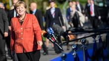 Angeschlagen? Merkel versucht beim EU-Gipfel zu merkeln - und war dabei stets bemüht