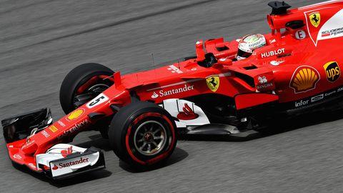 Sebastian Vettel im Training in Sepang