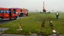 Air-Berlin-Flieger schießt über Landebahn auf Sylt hinaus