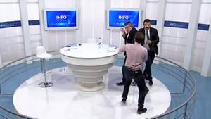 TV Studio Kosovo Prügelei