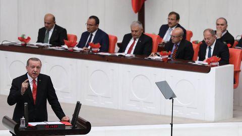 Erdogan spricht über die Türkei und EU