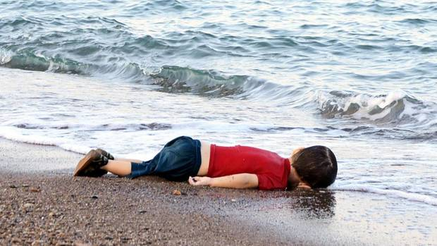 Der dreijährige Alan Kurdi, ertrunken auf der Flucht übers Mittelmeer