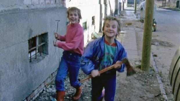 Zwei der Ritter-Jungen 1994.