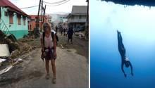 """Die Weltklasse-Apnoetaucherin Anna von Boetticher erlebte während eines Wettkampfs auf der Karibikinsel Dominica die schweren Verwüstungen von Hurrikan """"Maria""""."""