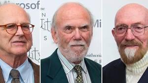 Der Physik-Nobelpreis geht an diese drei Herren (von links):Rainer Weiss, Barry Barish und Kip Thorne
