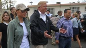Läuft doch: Präsident Donald Trump besucht Puerto Rico