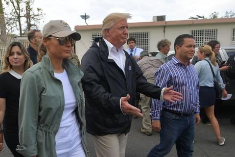 """Präsident zu Besuch: Hurrikan """"Maria"""" keine """"echte"""" Katastrophe? Donald Trump stößt Puerto Rico vor den Kopf"""