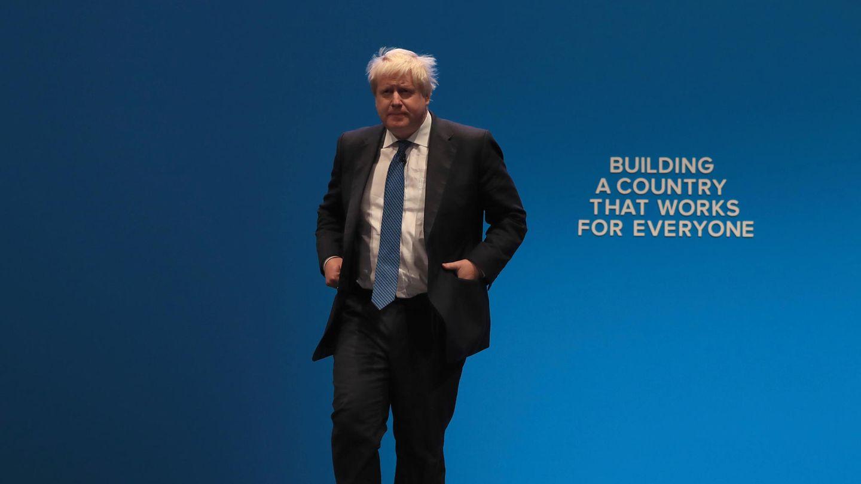 Boris Johnson auf dem Parteitag der Konservativen