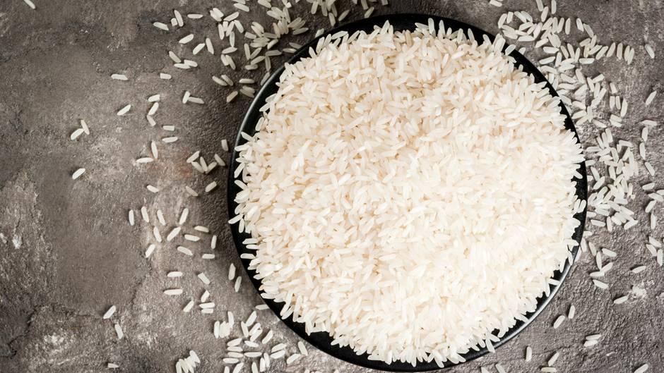 Reis  Die perfekte Sättigungsbeilage. Reis hält sich lange, und es gibt ihn in verschiedenen Sorten.