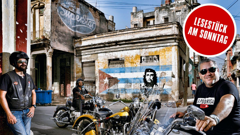 """Motorradtour durch Kuba: Mit Guevara Junior auf den Spuren des """"Che"""""""