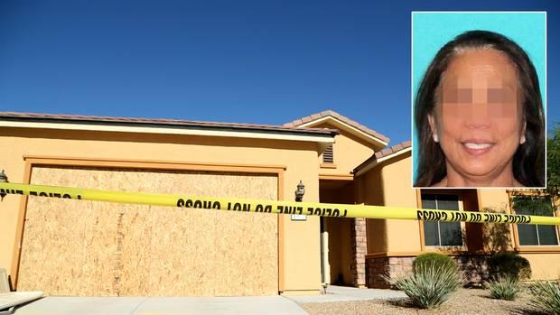 Marilou D. (kleines Bild) war die Partnerin des Massenmörders von Las Vegas. In diesem Haus lebte das Paar zusammen.
