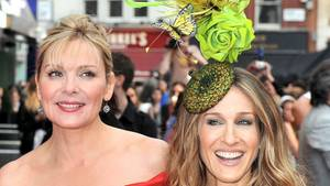 "Die ""Sex and the City""-Darsteller Kim Catrall (l.) und Sarah Jessica Parker s"