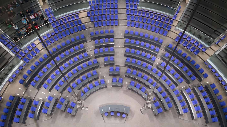 Die Sitzordnung im Bundestag ist noch offen