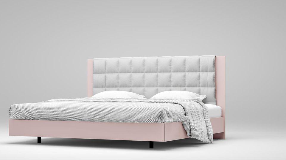 """Bett """"Izzy"""" mit variablen Höhen und Extras. Von Interlübke, Preis auf Anfrage"""