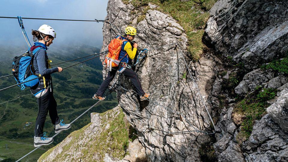 Klettern im Allgäu: Glück aus Stein – unterwegs auf zwei herrlichen Klettersteigen im Allgäu