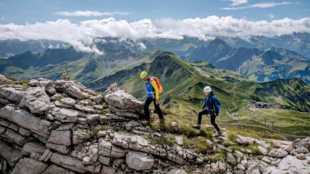 Steile Passagen: Nervenkitzel für Schwindelfreie: Zwei Klettersteige im Allgäu