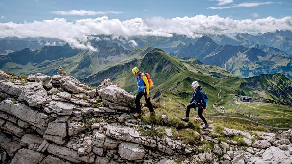 Klettersteig Levels : Klettersteige im allgäu eine herbsttour hoch in den bergen stern