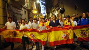 Spanien: Demonstration in Barcelona
