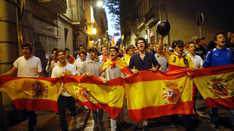 Spanien: Demonstration in Barcelona