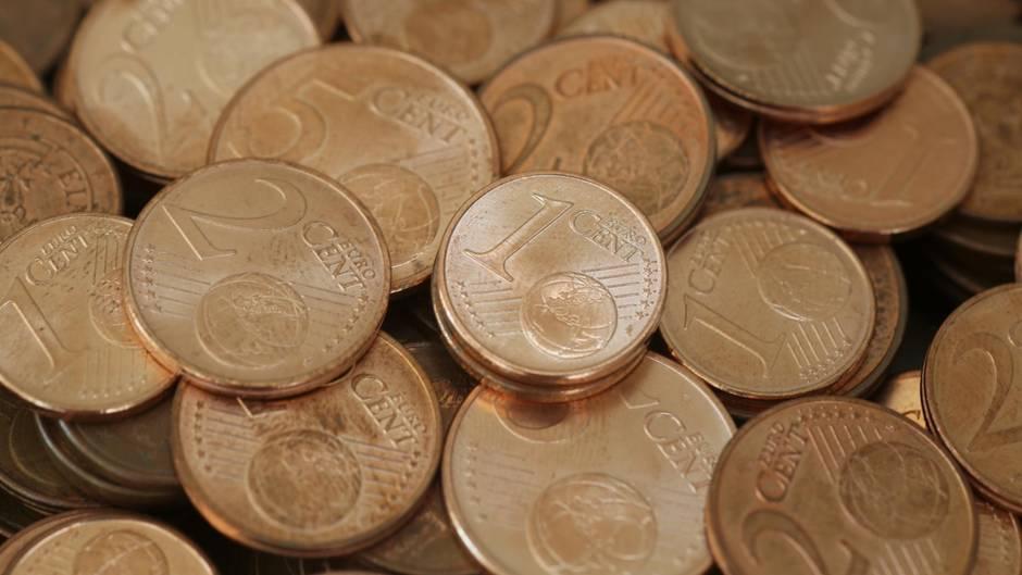Deutsche bunkern Cent-Münzen im Wert von 220 Millionen Euro