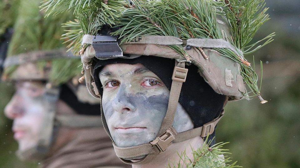 US-Soldaten während einer Übung in Litauen.