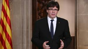 Der Chef der Regionalregierung von Katalonien, Carles Puigdemont